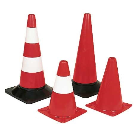 Lightweight Traffic Cones 300h Red  White Cone  Pack of 5