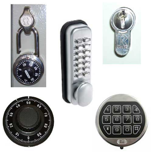 Dial Combination Lock Locking Option for Key Cabinets