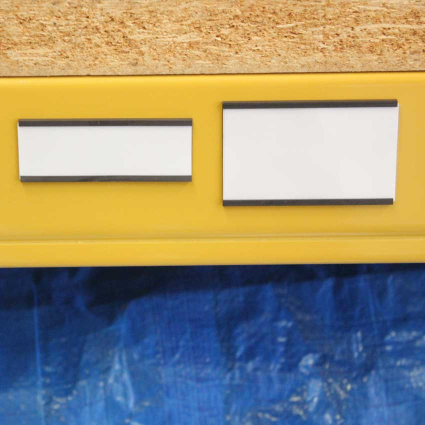 Magnetic Brown Label Holders For Shelving Racking