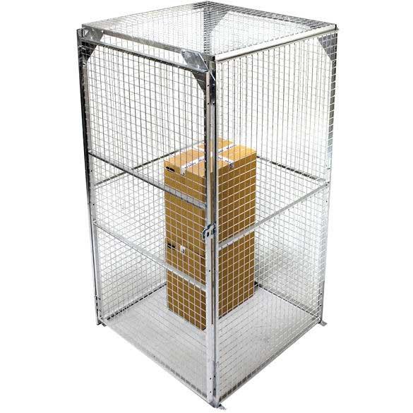 Minibox Galvanised 1.2m x 1.2m Secure Mesh Storage Enclosure / Cage