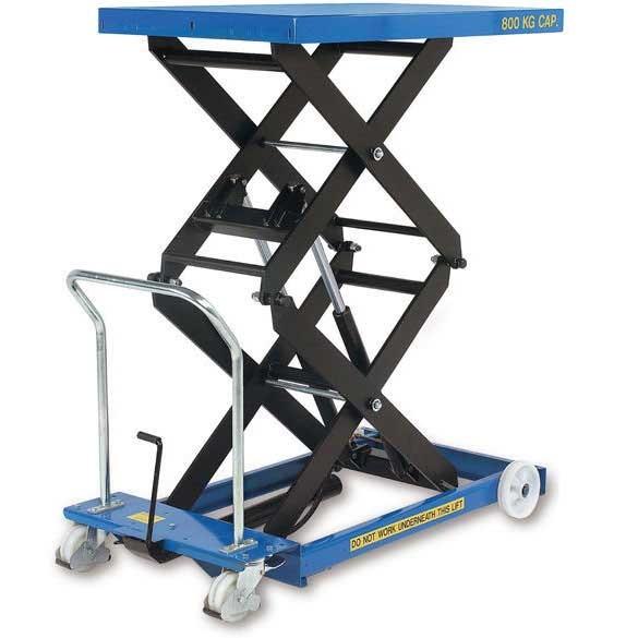 Mobile Double Scissor Lift Tables 125kg to 800kg capacity