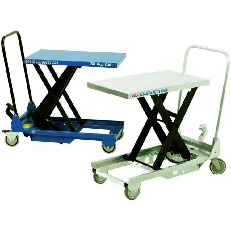 Mobile Single Scissor Lift Tables 150kg to 1250kg capacity