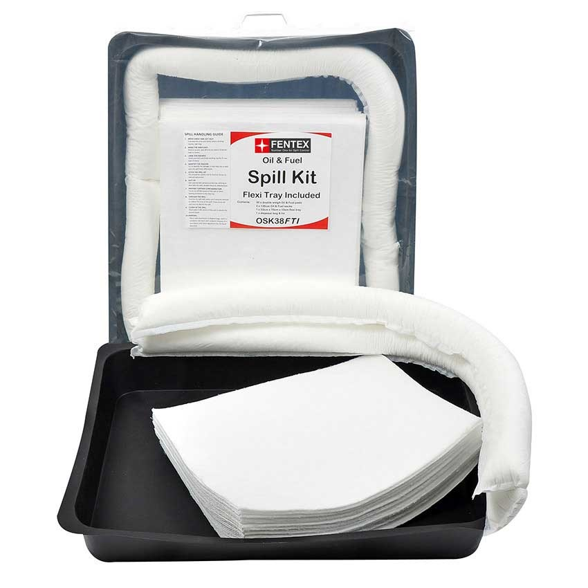 Oil & Fuel Spill Kits With Flexi-Trays