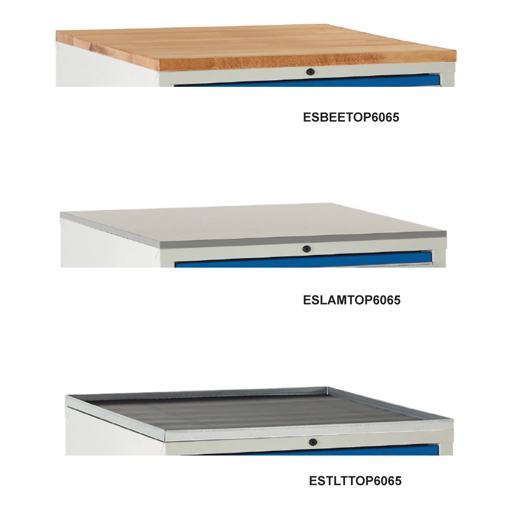 Optional Cabinet Tops for Euroslide 600 & 900 Cabinets