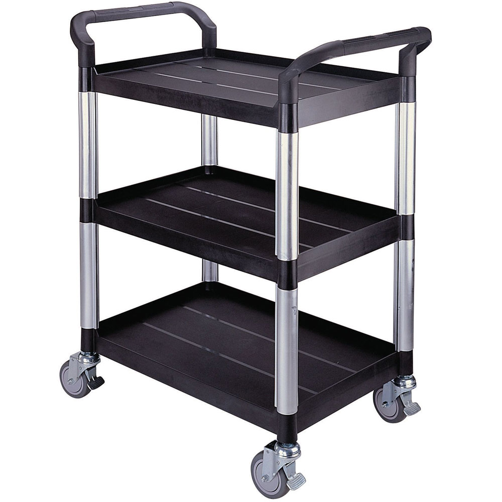 Plastic Utility Tray Trolleys With 2 And 3 Shelves With