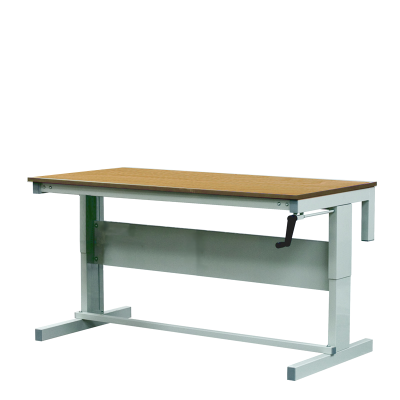 Height Adjustable Workbenches with Hardwood Top 1800w x 600d Bench