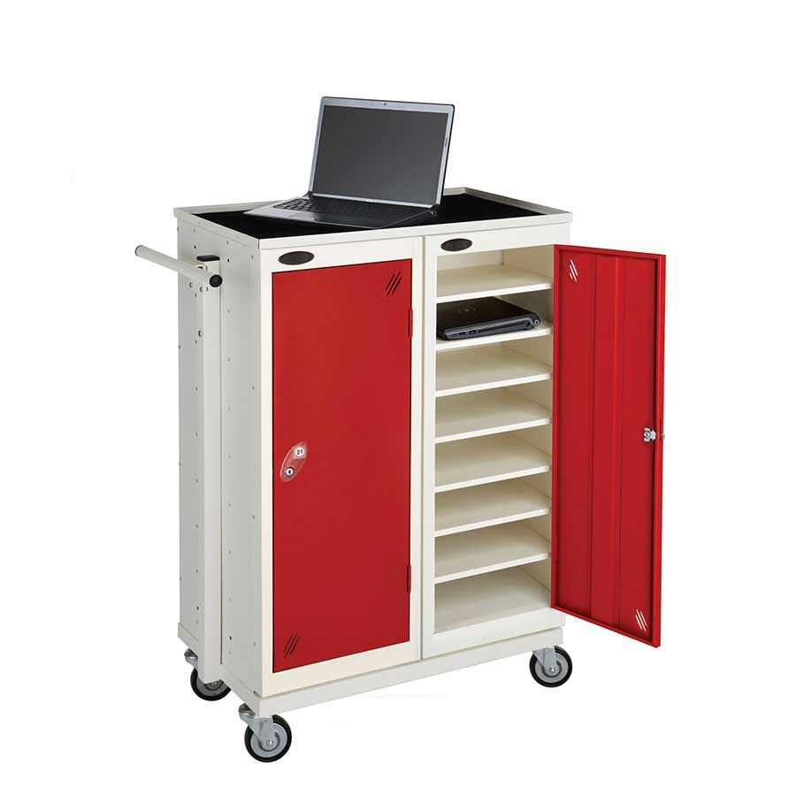 Mobile Trolley To Suit 2 Low 8 Door Storage or Charge Laptop Lockers