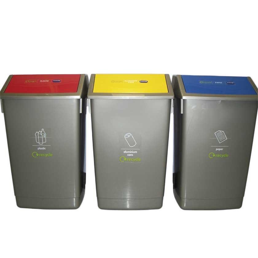 Recycling Bins Kit - Kit of 3