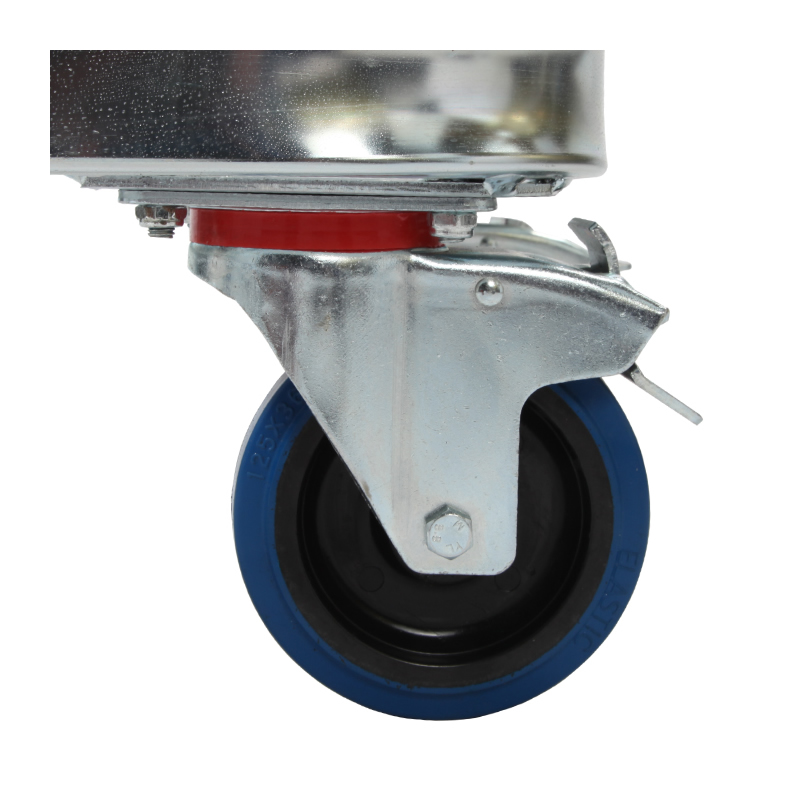 Rubber Castors For Roll Containers - Factory Fitted