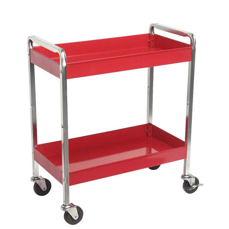 2 Level HD Trolley  Top Box and 2 Drawers 80kg 815L x 410w x 985h
