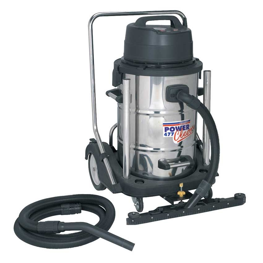 Sealey Industrial Wet & Dry Vacuum Cleaner 77L