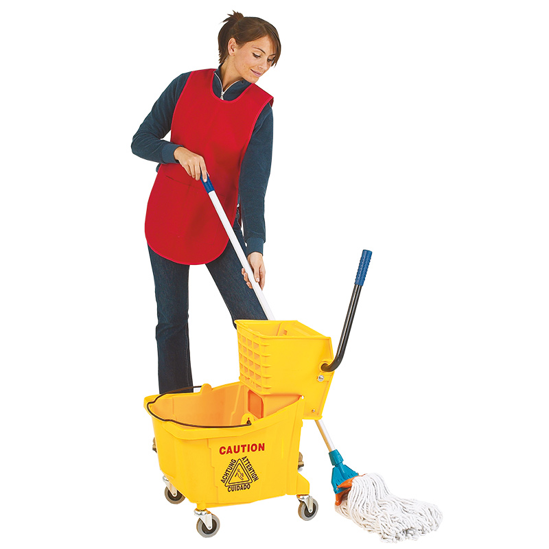 36L yellow mop bucket trolley
