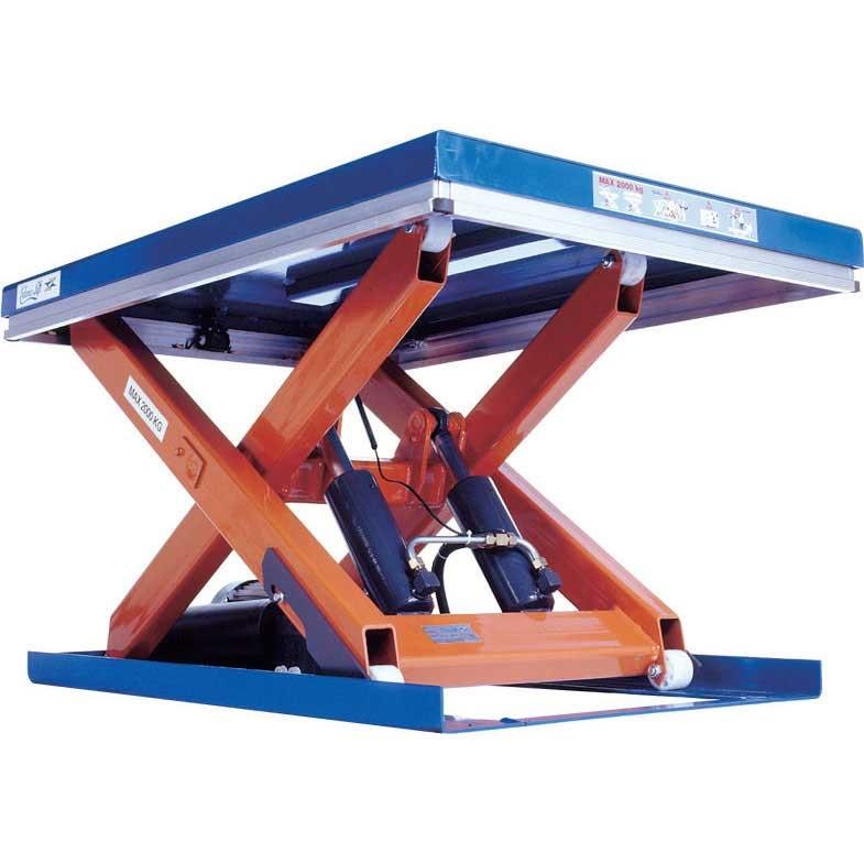 Single Scissor Lift Tables 1000kg cap 800w x 2000 long