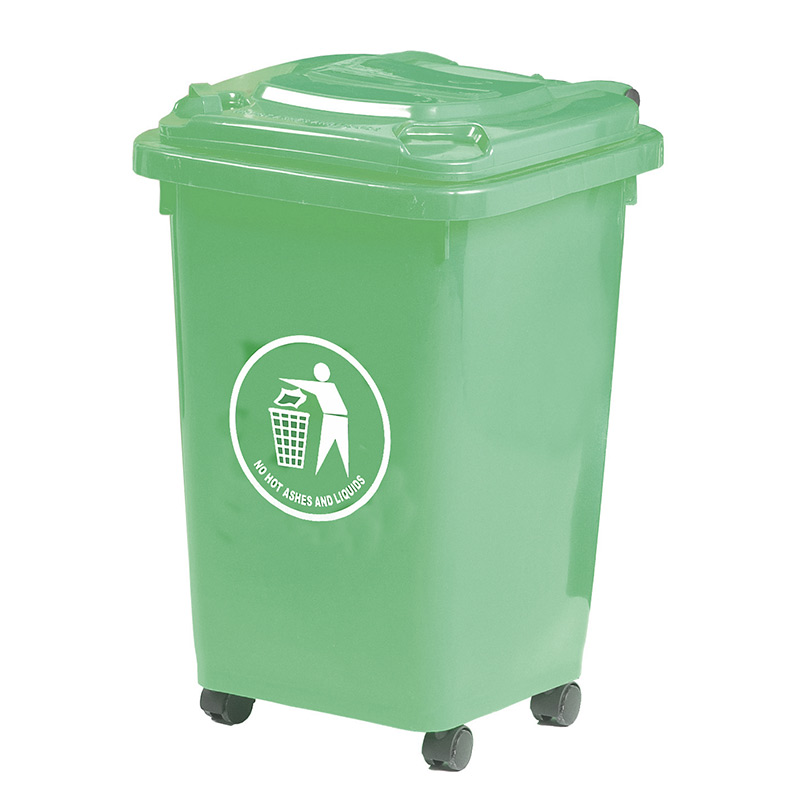 50L Blue Wheeled Bin - indoor use - Complies to BS/EN 840 - 30% recycled Polyethylene