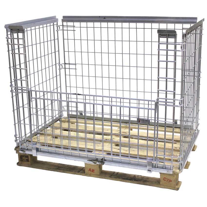 Stackable Mesh Pallet Cages 800kg cap 850h x 1200w x 1000d