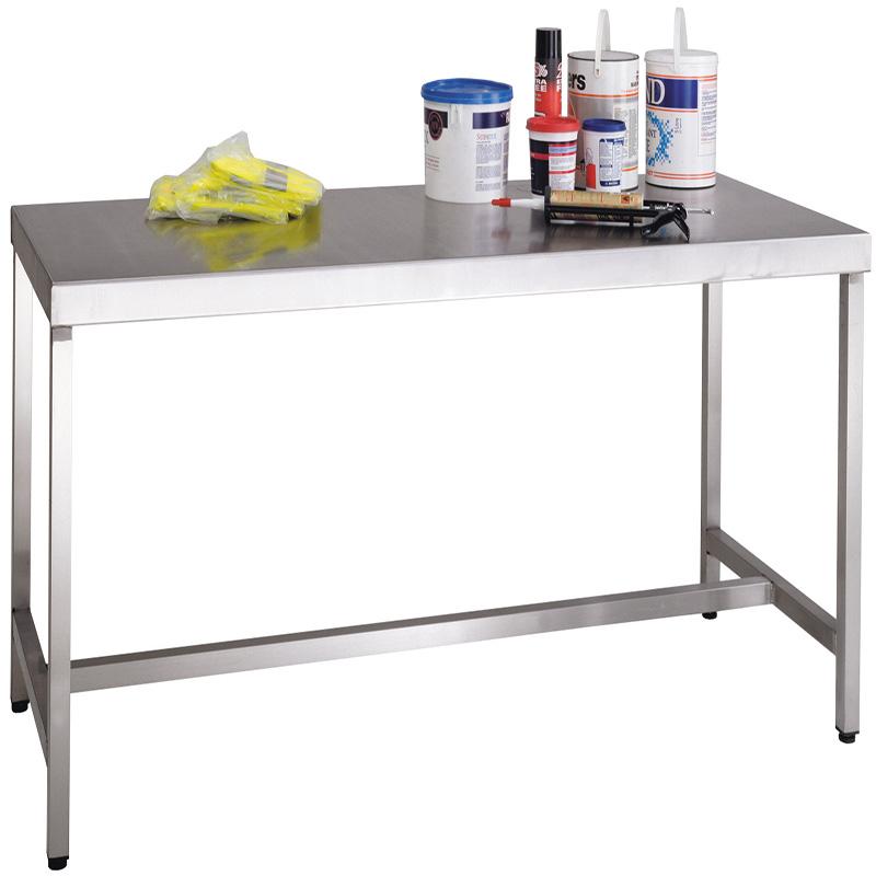 Stainless Steel Workbench with Lower Shelf - 400kg Capacity -  840 x 800 x 750mm