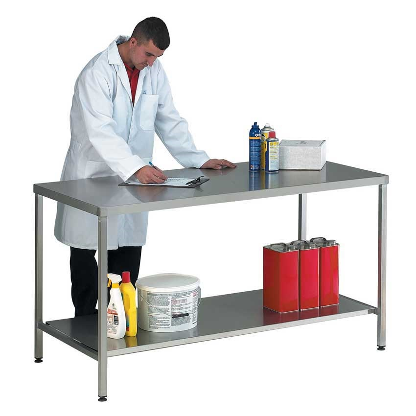Stainless Steel Worktable / Bench with Lower Shelf 1500 x 600mm