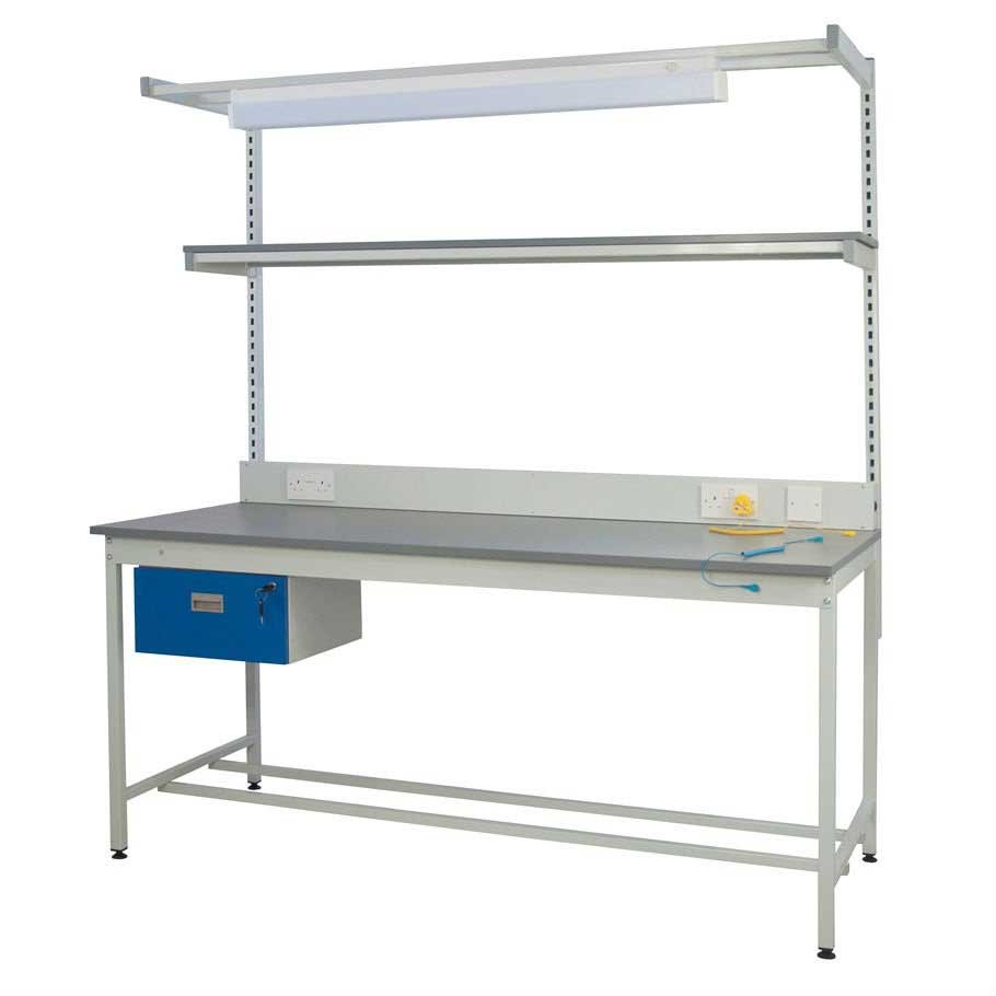 ESD Square Tube Workbench Kit  Lamstat Top 20mm thick 840x1500x900mm