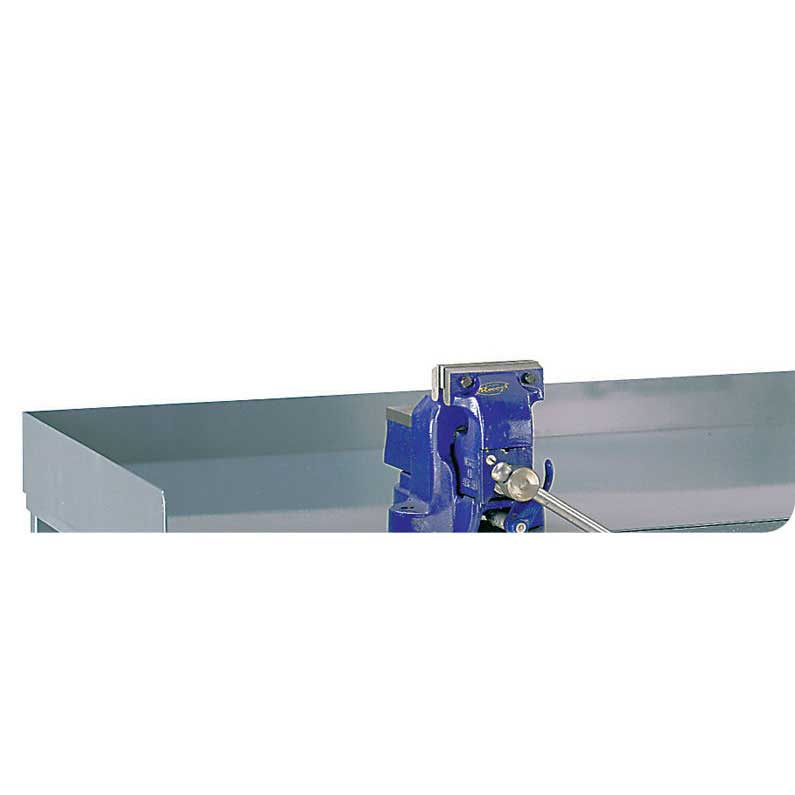 Steel Retaining Lip for Engineers Workbenches 75h for 1500w x 900d