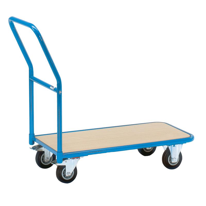 Storeroom Platform Trolley with Timber Platform