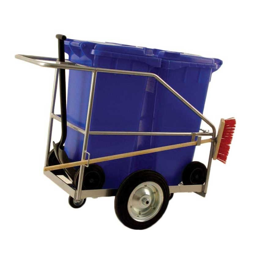 Street Cleaning Barrow with two bins
