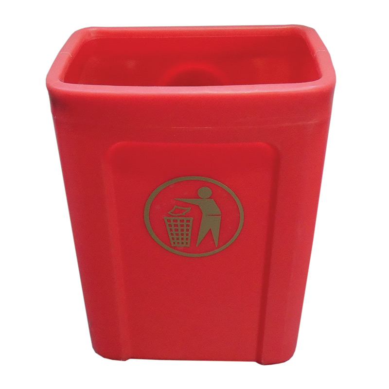 Titus mounted litter bin with lid