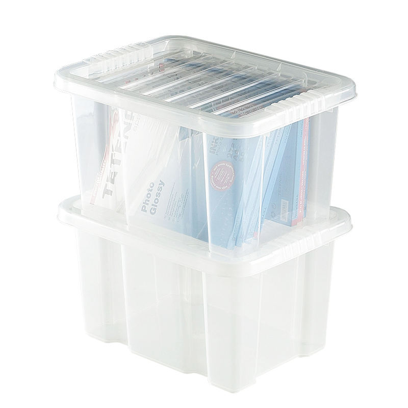 buy cheap plastic storage box with lid compare office. Black Bedroom Furniture Sets. Home Design Ideas