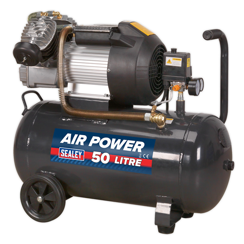 V-Twin Direct Drive 50L Compressor 3hp