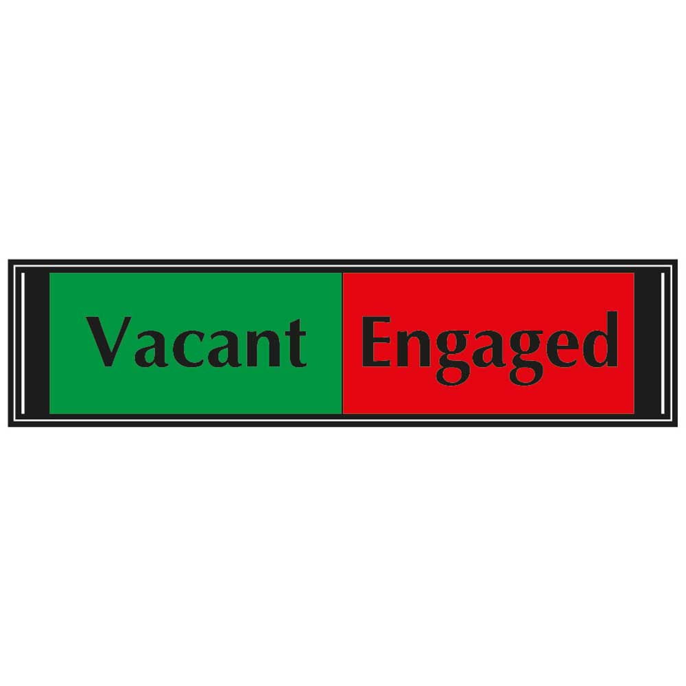 Vacant  Engaged Sliding Sign for Doors 50mm x 200mm