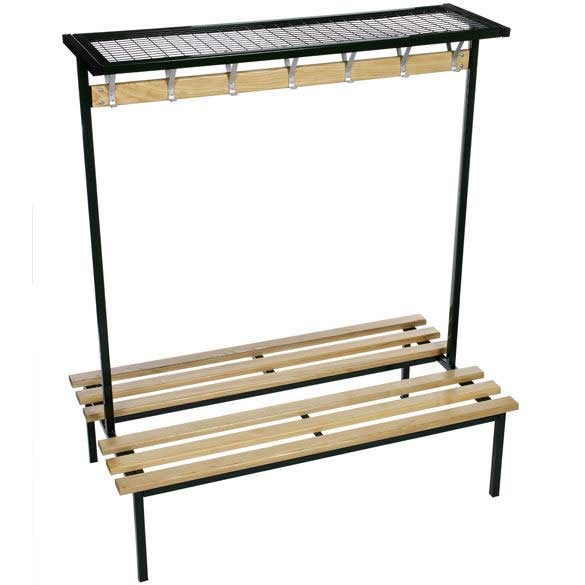 Evolve Duo Changing Room Bench with Mesh top shelf