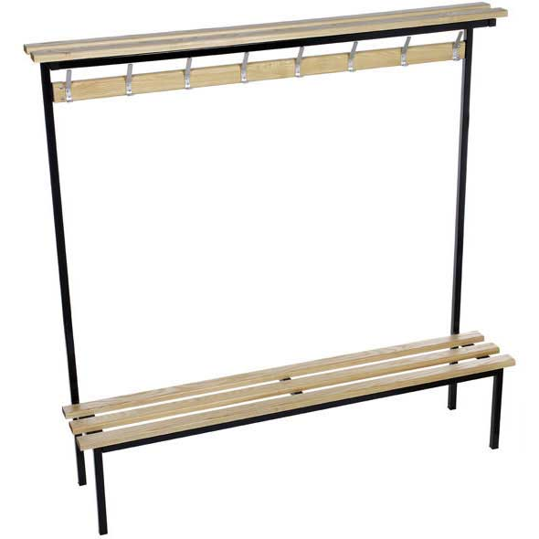 Evolve Solo Changing Room Bench with Wood top shelf