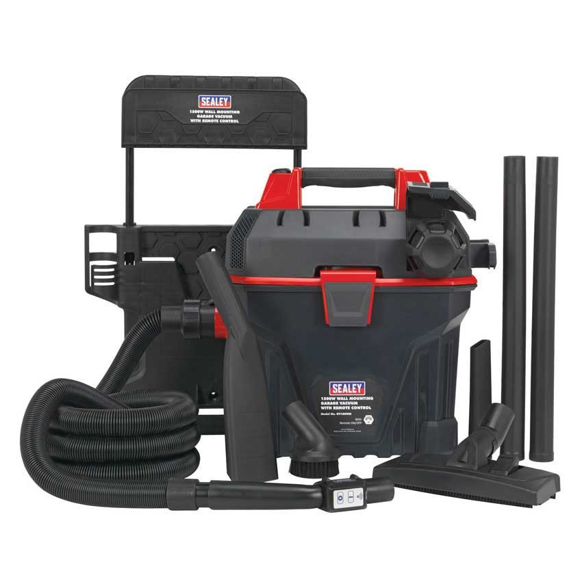 Sealey Wall Mounted Garage Vacuum Cleaner