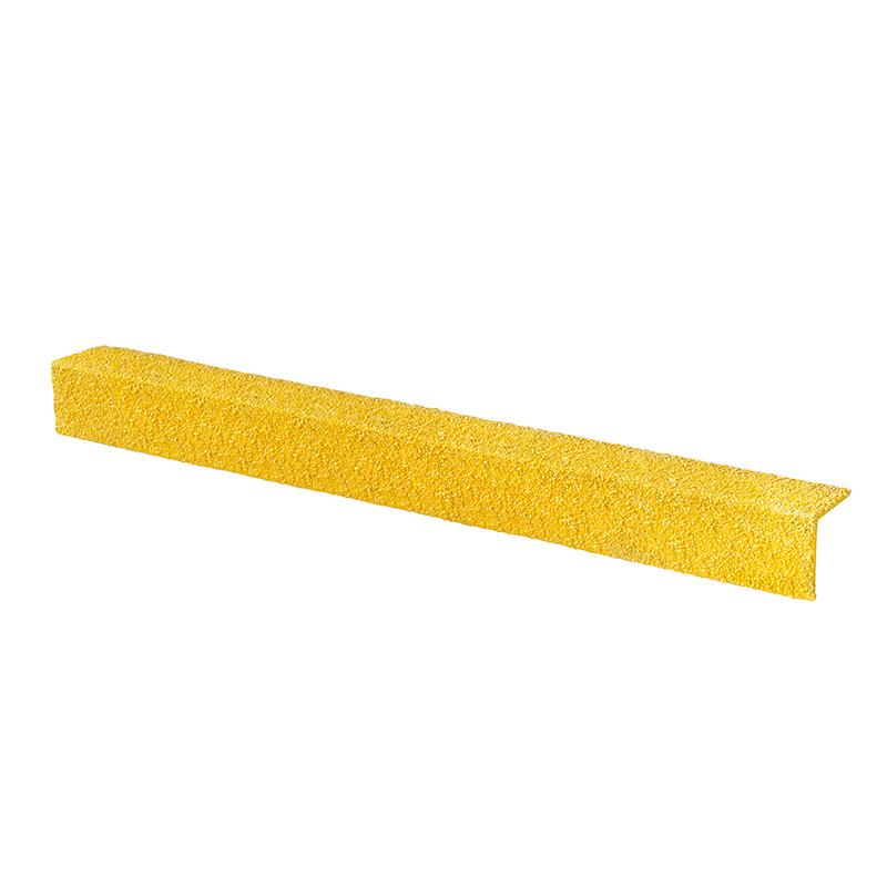 Office Supplies Anti-Slip GRP Stair Nosing 55mm x 55mm x 500mm - yellow