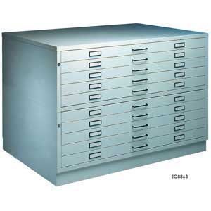 A1 or A0 - 10 Drawer Steel Plan Chest