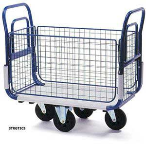 Post Delivery Trolleys - Mesh Side Platform Trolley
