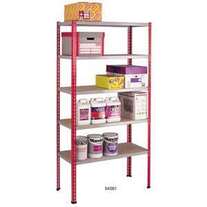 Standard Duty Shelving 1981mm high with 5 Shelf Levels