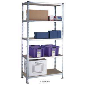 S/D Galvanised Shelving with 5 Chipboard Shelves