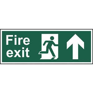 BS Fire Exit Arrow Up Sign