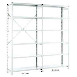 Euro Shelving Open Bays with 6 shelves