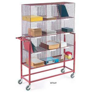 Mail<br /><br /><br /> Sorter Trolley with mesh compartments