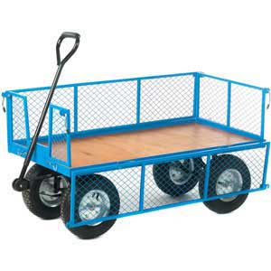 Ply Base Platform Truck with Mesh Sides