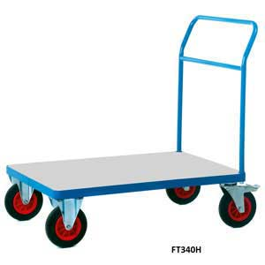 Galvanised Base Platform Trolley with Single Bar End