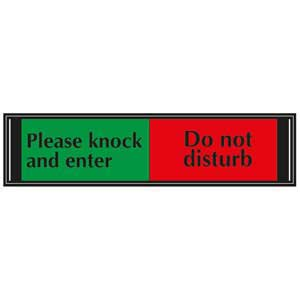 Please<br /> Knock and Enter / Do Not Disturb Slider Sign for<br /> Doors