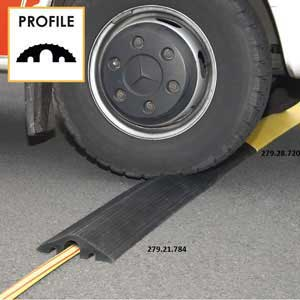 Rubber Cable Protection Ramps 1.2m long