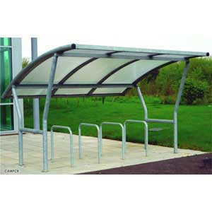 Single Sided Cambridge Cycle Shelters
