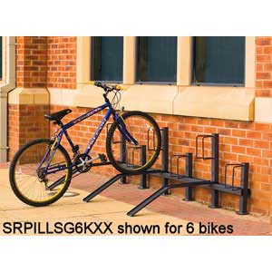 Pillar bike rack