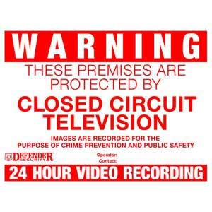 CCTV Warning Signs - 4 Pack