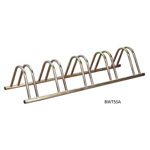 Zinc Plated Floor Bike Rack