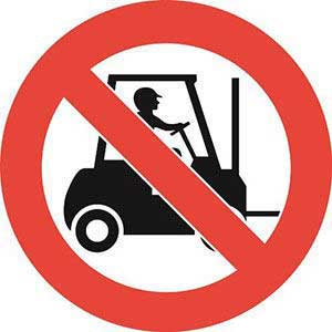 No Forklifts Graphic Floor Marker