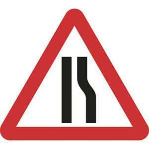 Road Narrows Right Sign